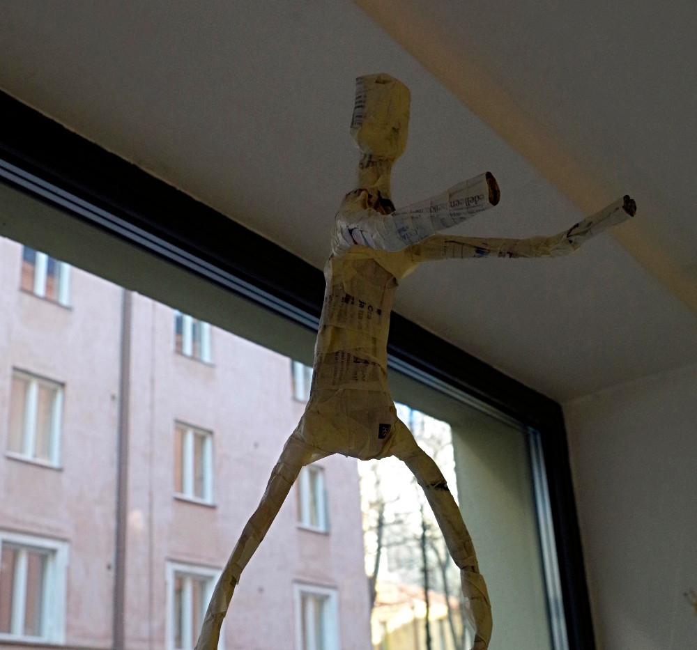 flying womflying woman installation