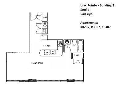 Lilac Pointe Studio Floor Plan