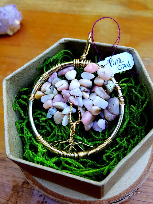 PINK OPAL TREE OF LIFE