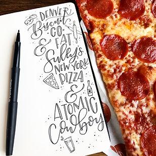 Delicious Pizza at Fat Sully's in Denver