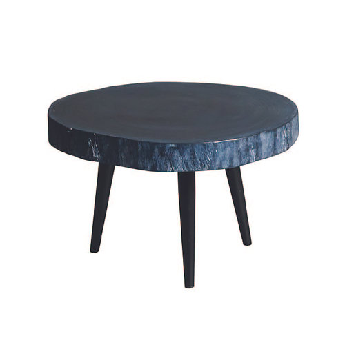 Black Wood Side Table   Small
