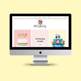 All Caked Up by Lisa - Website Design