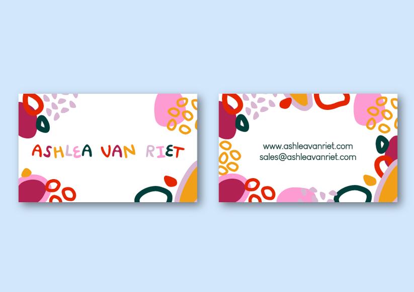 Ashlea Van Riet business cards