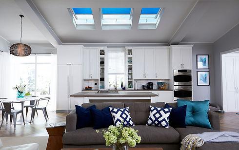 Skylights blue and white kitchen.jpg