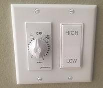 Trianle Whole House Fan control panel.jp