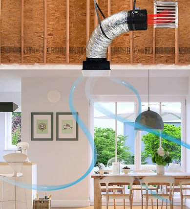 QuietCool whole house fan indoor airflow