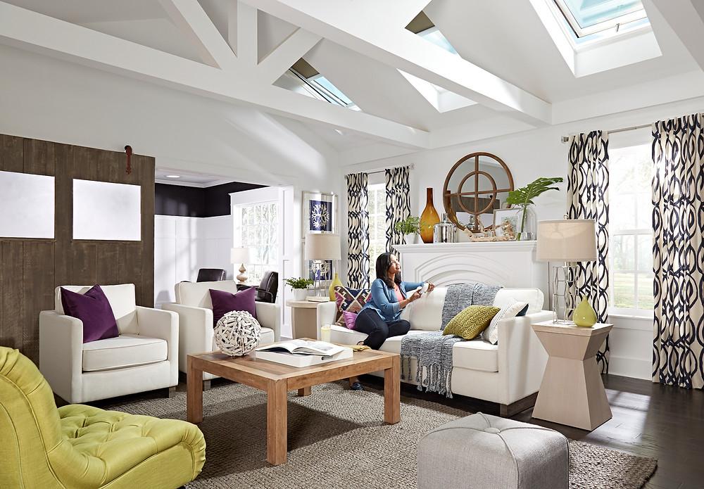 Velux Skylights in living room
