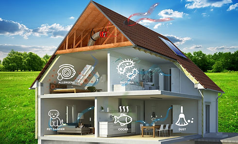 Whole house fan indoor air quality cutou
