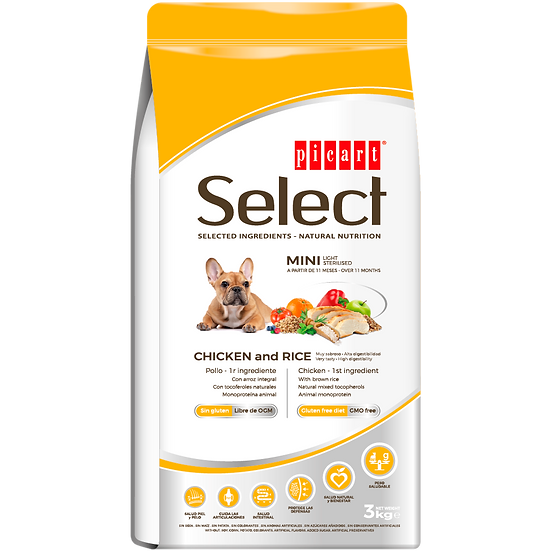 Picart Select MINI LIGHT – STERILISED Chicken and Rice