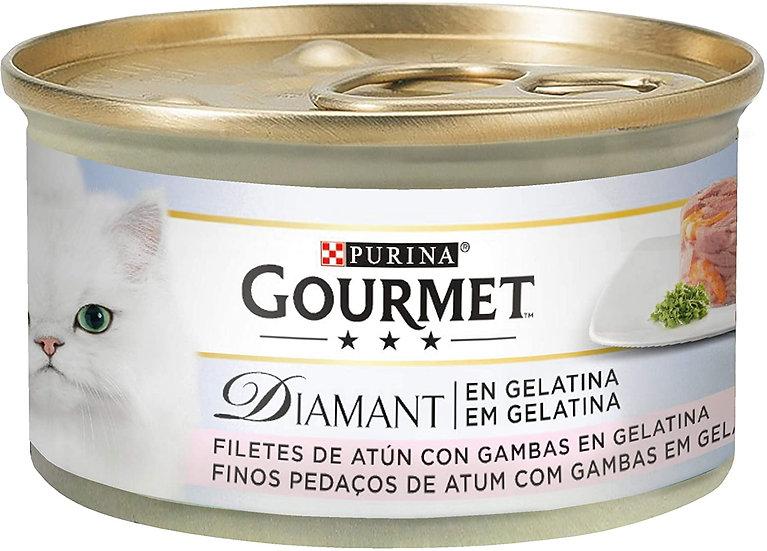 Purina Gourmet Diamant Gelatin Treats Cat Food with Tuna and Shrimps