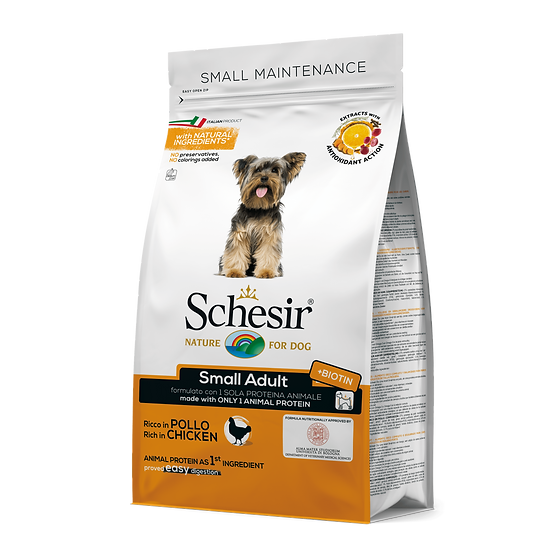 Schesir Small Adult Maintenance with Chicken Dry Food (800g)