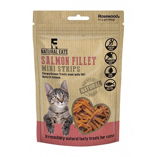 Natural Eats Cat Treats Salmon Fillet Mini Strips 50g