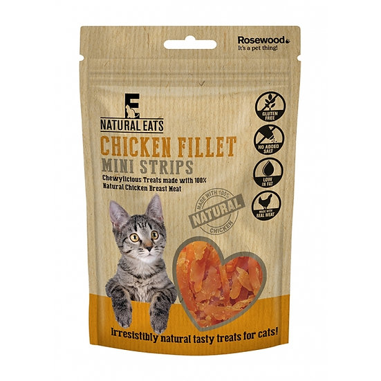 Natural Eats Cat Treats Chicken Fillet Mini Strips 50g