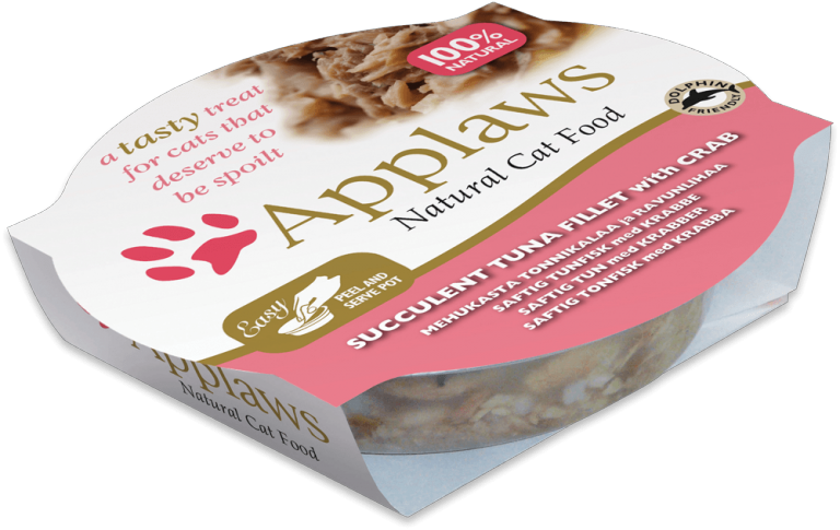 Applaws Tuna Fillet with Crab - 60 g pot
