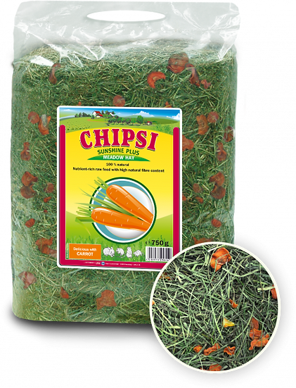 Chipsi Sunshine Plus Meadow Hay with Carrot 750g