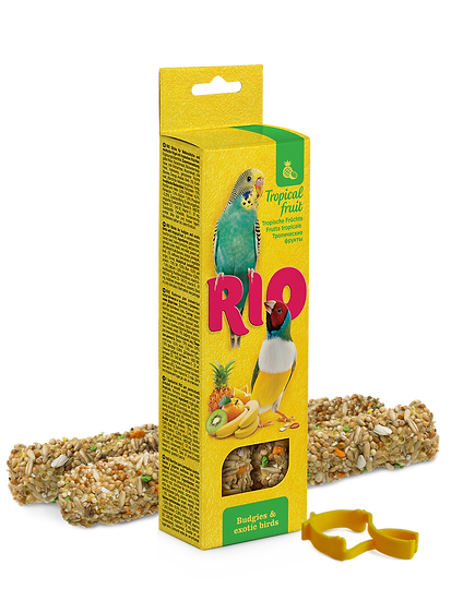 RIO Sticks for budgies and exotic birds with tropical fruit