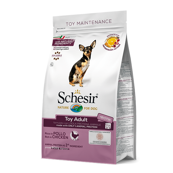 Schesir Toy Aduly Maintenance with Chicken Dry Food (800g)