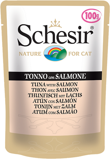 Schesir Tuna with Salmon Pouch (Cat)