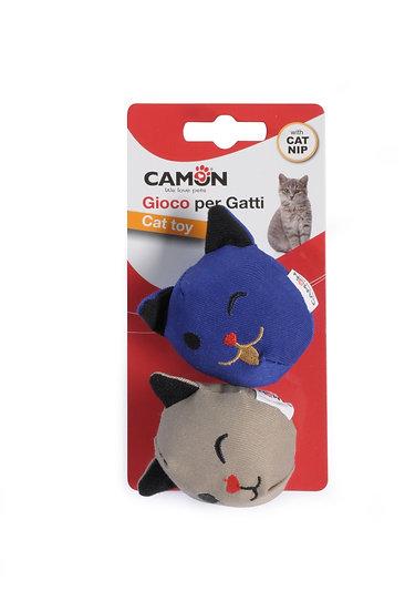 Camon Cat Faces with Catnip