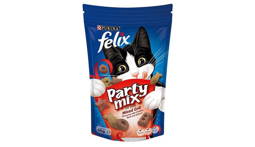 Purina Felix Party Mix Mixed Grill Cat Treats
