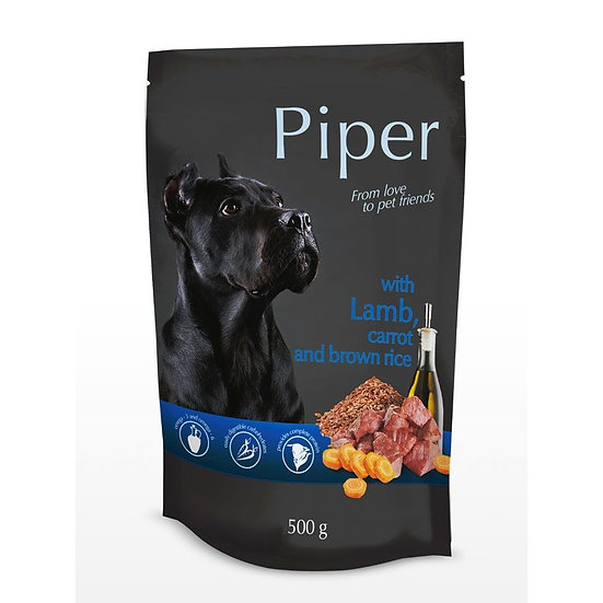 Piper with Lamb, Carrot and Brown Rice Pouch (500g)