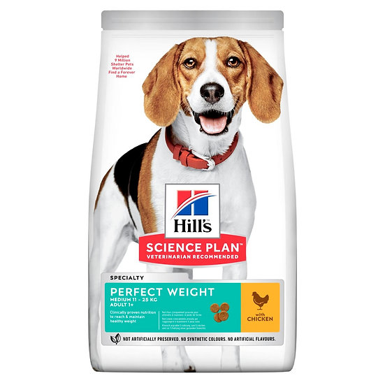 HILL'S SCIENCE PLAN Perfect Weight Medium Adult Dog Food with Chicken