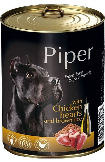 Piper Chicken Hearts and Brown Rice Can (400g)