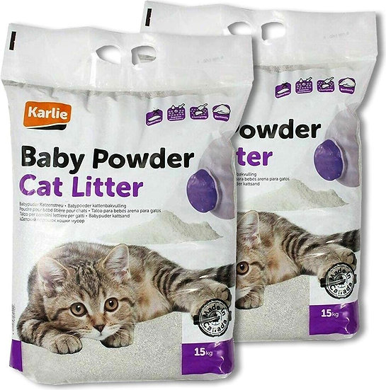 Karlie Flamingo Baby Powder Cat Litter (15Kg)