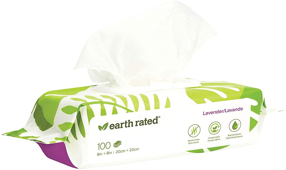 Earth Rated Dog Wipes Lavender Scented