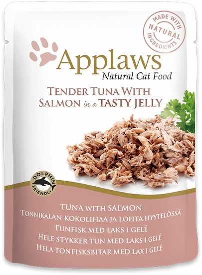 Applaws Tuna Wholemeat with Salmon in Jelly Pouch