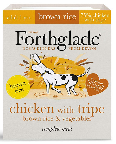 Forthglade Chicken with tripe, brown rice & vegetables