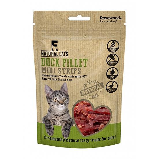 Natural Eats Cat Treats Duck Fillet Mini Strips 50g
