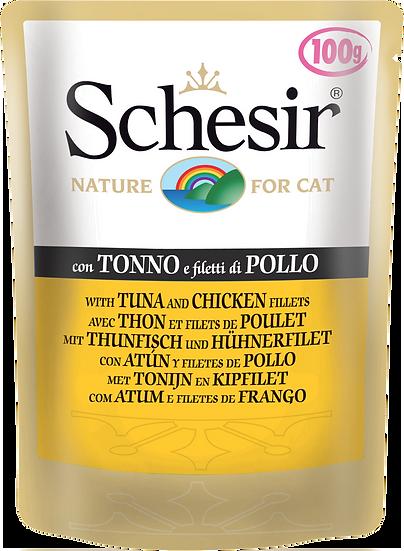 Schesir Tuna and Chicken Fillets Pouch (Cat)