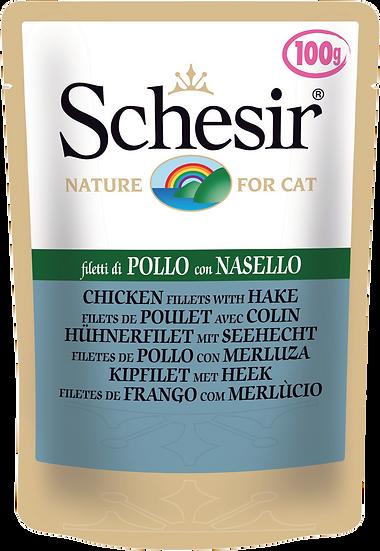 Schesir Chicken Fillets with Hake Pouch (Cat)