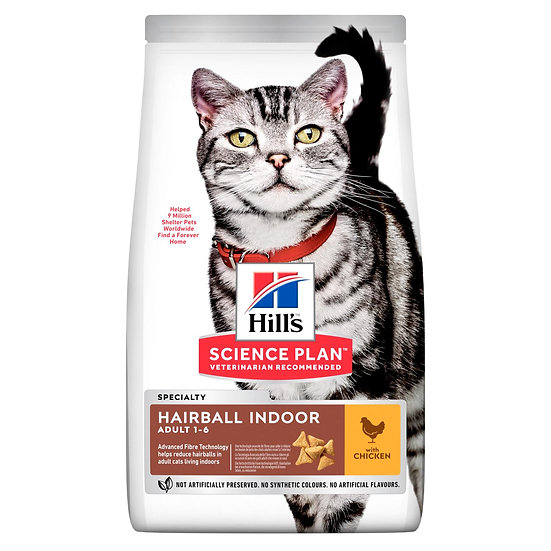HILL'S SCIENCE PLAN Hairball Indoor Adult Cat Food with Chicken