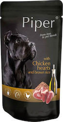 Piper Chicken Hearts and Brown Rice Pouch (150g)