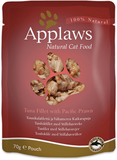 Applaws Tuna with Pacific Prawn in Broth – 70 g Pouch