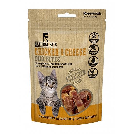 Natural Eats Cat Treats Chicken & Cheese Duo Bites 50g