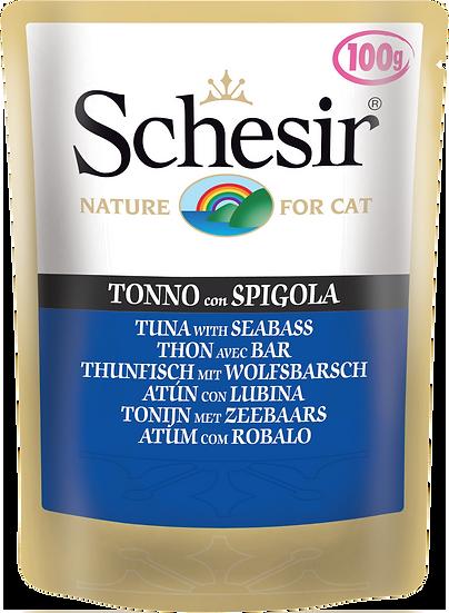 Schesir Tuna with Seabass Pouch (Cat)