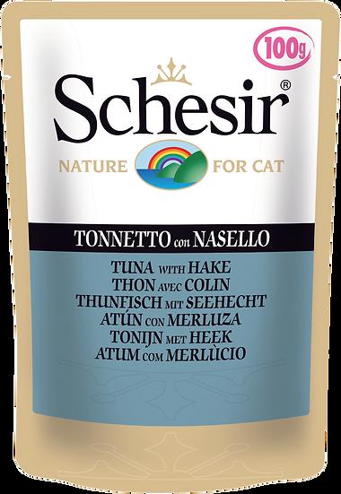 Schesir Tuna with Hake Pouch (Cat)