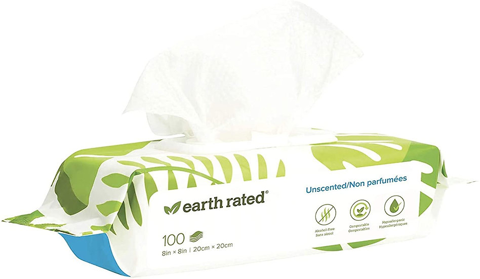 Earth Rated Dog Wipes Unscented