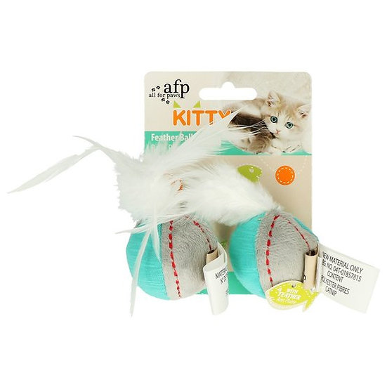 All For Paws Feather Ball with Catnip and Bell