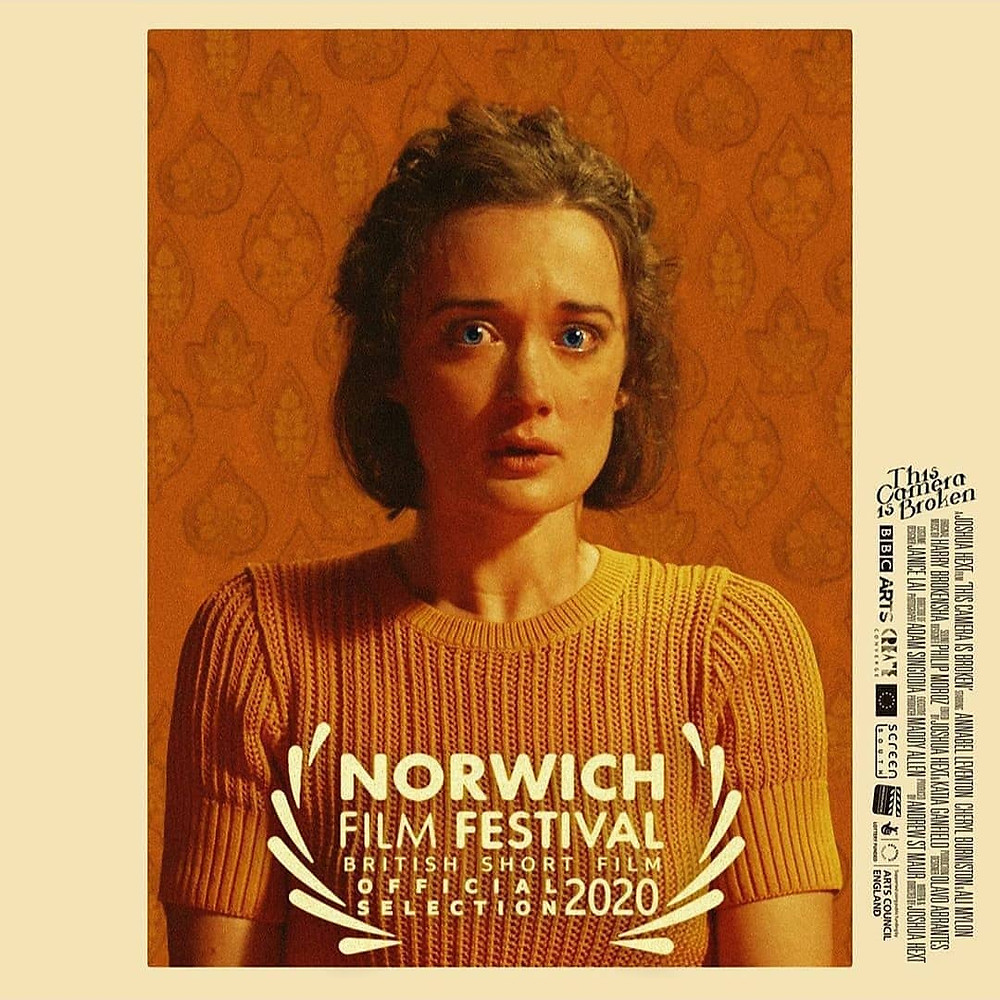 Cheryl Burniston Norwich film festival nominated film, This Camera is Broken