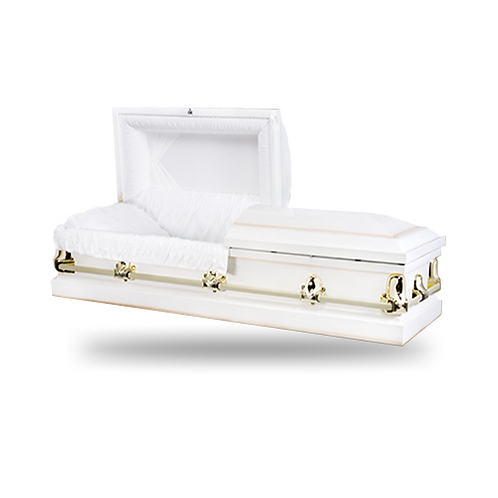 Casket - White and Gold
