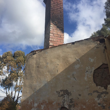 After Demolition - the leaning chimney