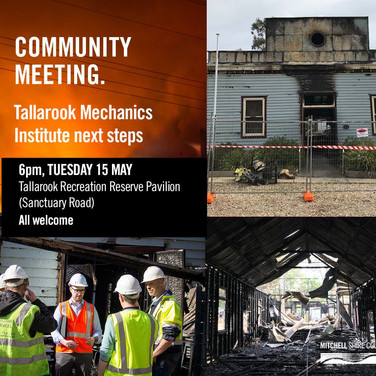 Community Meeting date - 15 May 2018