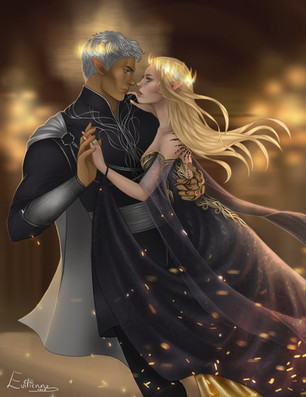 Aelin and Rowan - Throne of Glass