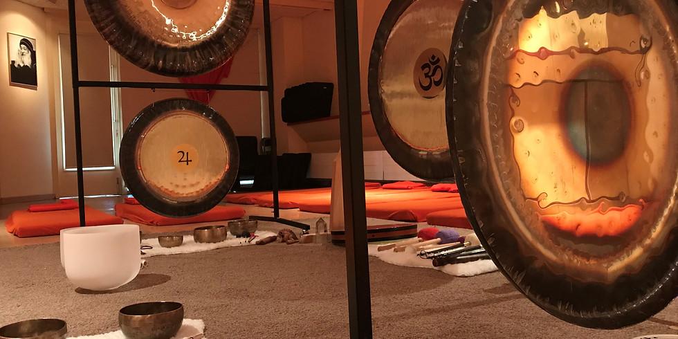 Gong Bath at Sacred Trees Studio in Leiden