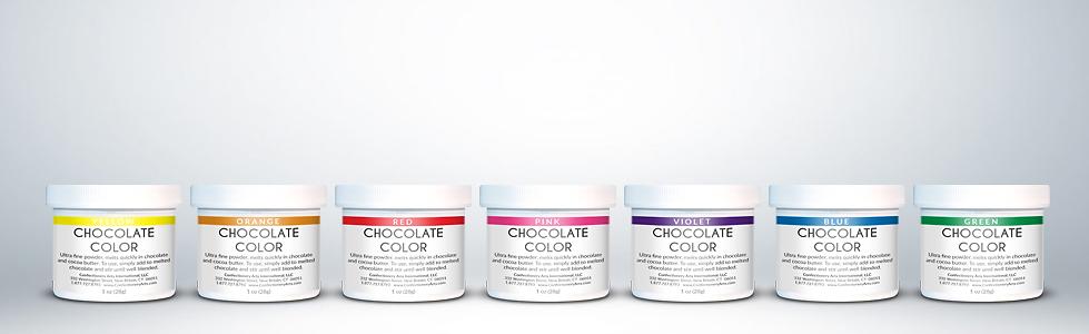fat soluble chocolate cocoa color rainbow