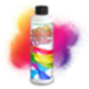 air brush color edible cake pant rainbow